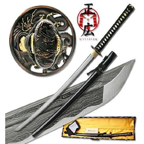 Masahiro Folded Steel Katana - Dragon Style Tsuba